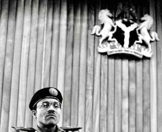 "A photo by Sunmi Smart-Cole entitled: ""Power!"" (Gen Muhammadu Buhari) - 1984"