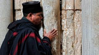 A Christian Ethiopian priest in the Old City of Jerusalem