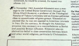"1980 ""Islam in Iran"" report"