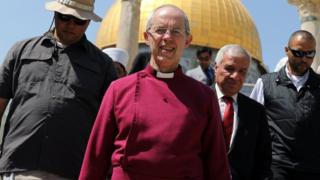 Justin Welby walks through Jerusalem's Old City
