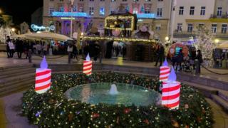 Детаљ са Трга Бана Јелачића у центру Загреба