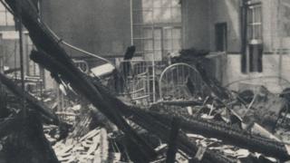 Belfast: Children's Ward after an air raid in 1941