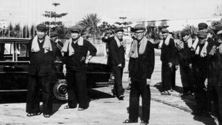 Pol Pot, Nuon Chea, Ieng Sary, Son Sen và Vorn Vet năm 1975