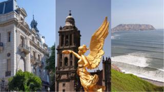 Collage de Buenos Aires, Ciudad de México y Lima.