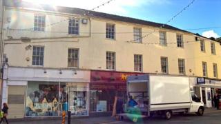 Former Debenhams site in Bangor High Street