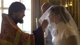 مراسم عقد نکاح زوج روس