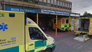 Entrance of hospital