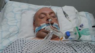 Gary in hospital
