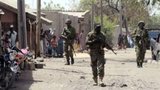 Sojojin Najeriya dake yaki da Boko Haram a birnin Maiduguri