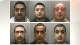Mugshots of defendants
