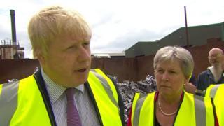 Boris Johnson and fellow Leave campaigner Gisela Stuart