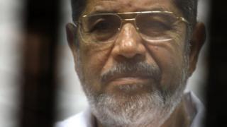 Egyptian ousted Islamist president Mohamed Morsi in 2014