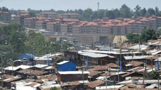 Kenya slum and houses