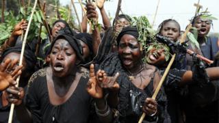 Plateau women dey protest for Jos