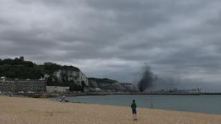 Smoke at Dover port