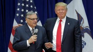 Joe Arpaio y Donald Trump