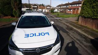Police car near the house