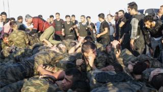 Военные, участвовавшие в перевороте в Турции