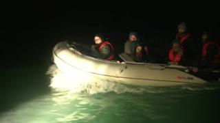 The migrants are believed to be in a boat similar to this
