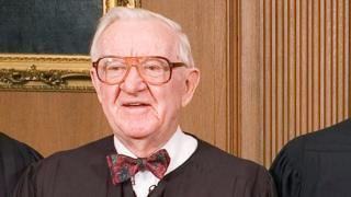 "FILE PHOTO: Justice John Paul Stevens in the Chief Justice""s Conference Room at the Supreme Court in Washington"