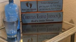 Christian Rashad Jonhson Jr. was stillborn in October 2017