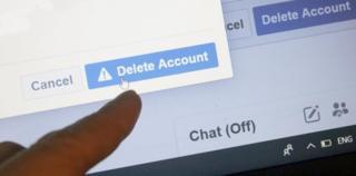 Bir Facebook hesabı siliniyor