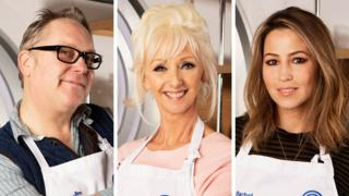 Vic Reeves, Debbie McGee and Rachel Stevens