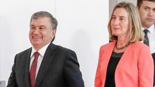 Президент Мирзиёев ва ЕИ Ташқи сиёсат комиссари Федерика Моггерини