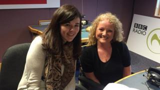 BBC Radio Ulster's The Sunday News presenter Jayne McCormack with Thalidomide campaigner Kim Fenton