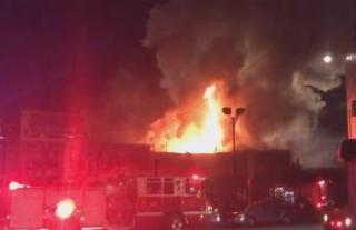 Пожар в Окленде