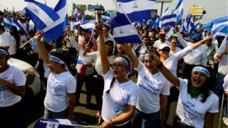 Protesta en Nicaragua.