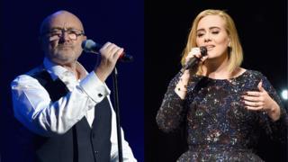 Phil Collins y Adele