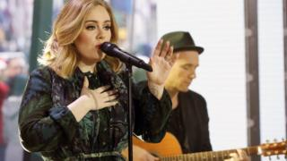 Adele performs on the US TV show Today.