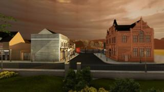 Plans for building of historic town