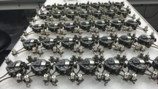 Zano drones on display