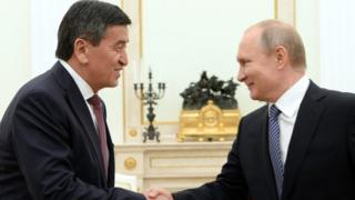 Сооронбай Жээнбеков менен Владимир Путин