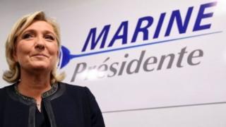 Marine Le Pen, candidate de l'extrême droite française à la présidentielle de mai prochain