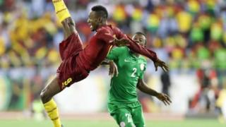 Asamoah Gyan for action