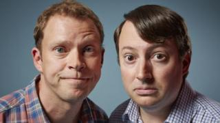 Robert Webb (l) and David Mitchell starred in Peep Show from 2003-2015