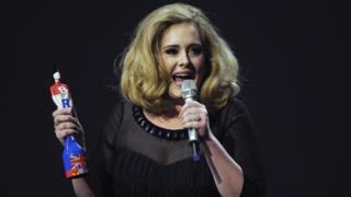 Adele at 2012 Brit Awards