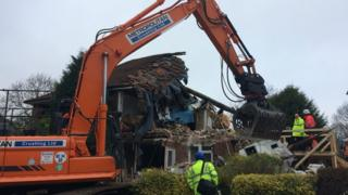Demolition at the property