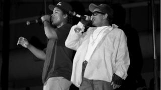 Ice Cube and Eazy-E in 1989