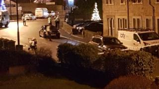Scene of crash in Horsforth