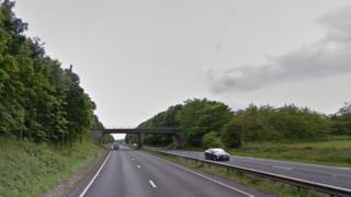 A64 near Tadcaster