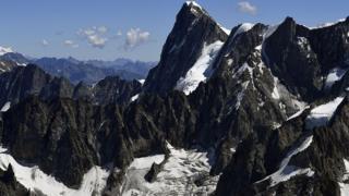 File image of Les Grandes Jorasses peak on Mont Blanc