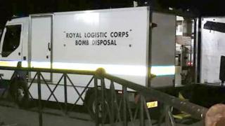 Bomb squad at sports club