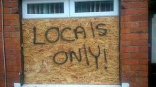 Racist graffiti