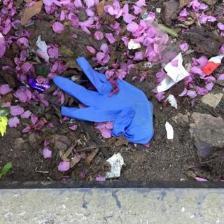 environment Discarded gloves