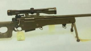 deactivated L96 Accuracy International sniper rifle