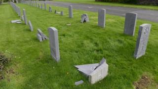 Smashed graves